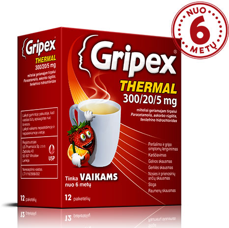 Kas yra <b>Gripex Thermal</b><sup>®</sup>